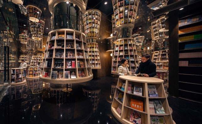 Librería Chongqing Zhongshuge. Foto X + Living.
