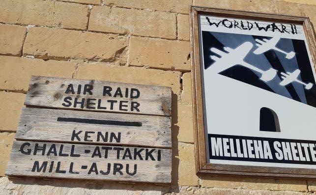 Entrada al refugio antiaéreo de Mellieħa. Foto: JP Chuet-Missé.