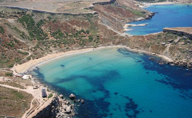 Playa de Ghajn Tuffieha en Malta. Foto:  Jurgen Scicluna | Turismo de Malta.