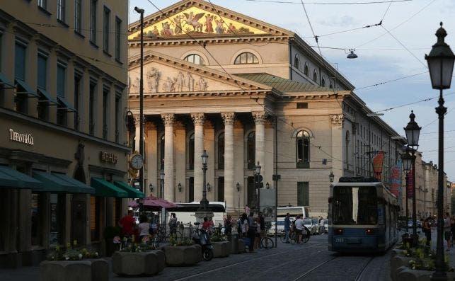 Ópera Maximilianstraße. Foto Sigi Mueller Turismo de Múnich.