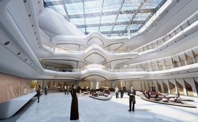 MEDubai Atrium. Foto: Zaha Hadid Architects.