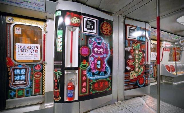 Metro del arte en Hong Kong. Foto Turismo de Hong Kong.