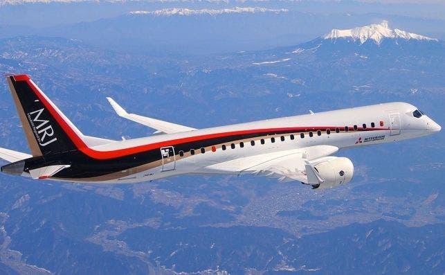 El Mitsubishi MRJ 90 puede transportar hasta 88 pasajeros. Foto: Mitsubishi.
