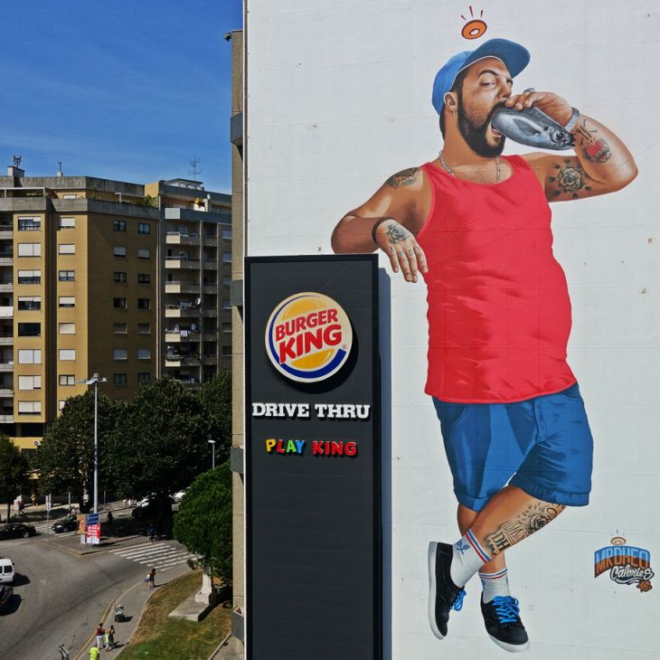 Mural de MrDheo en Matosinhos. Foto  C.M. Matosinhos.