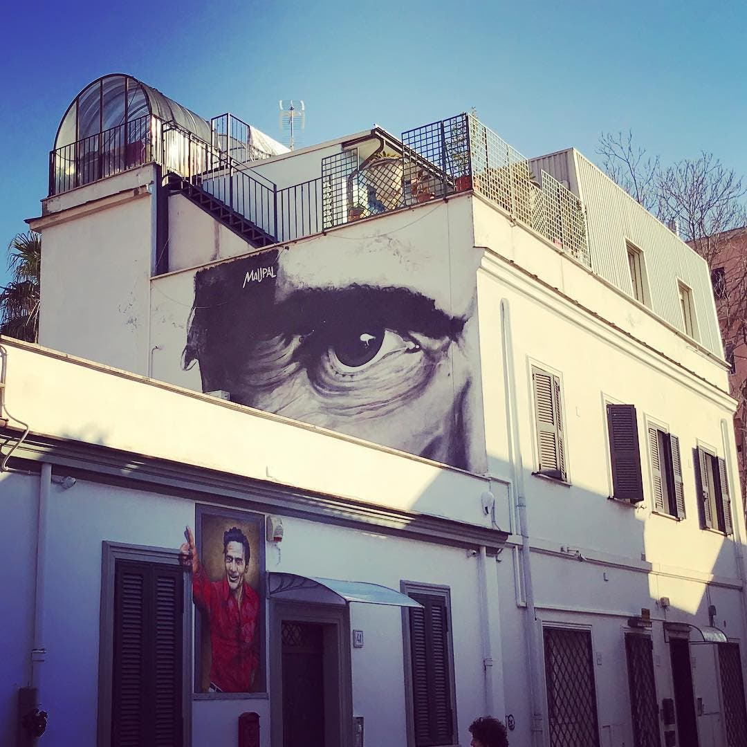 Mural en Pigneto. Foto F. Cavalieri Instagram