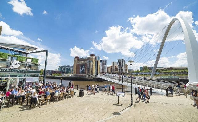 Newcastle upon Tyne puentes. Foto: Visitbritain.