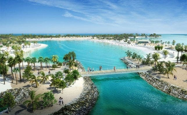 Ocean Cay MSC Marine Reserve tendraÌ una gran laguna para deportes acuaÌticos ConradSchutt