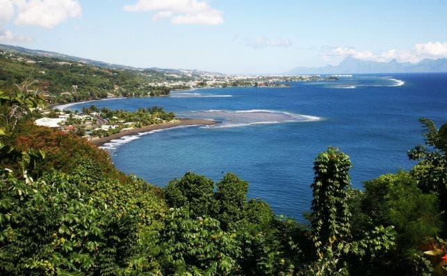 PanoraÌmica de la BahiÌa de Matavai, Papeete. Foto Manena Munar.