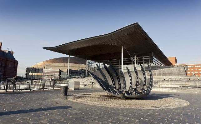 Parlamento de Cardiff. Foto VisitBritain.