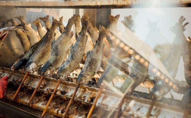 pincho de pescado Auer Dult