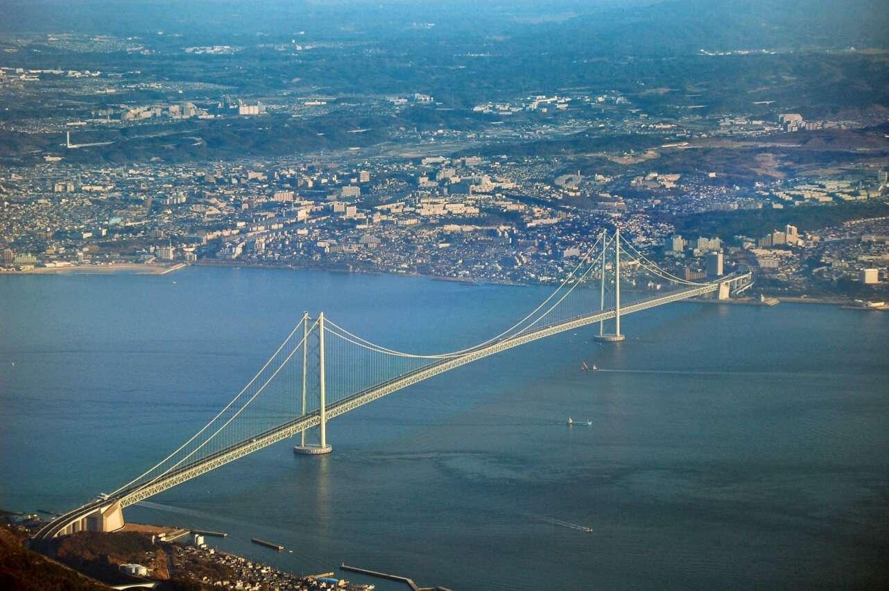 El puente Akashi Kaikyo. Foto: Wikicommons/CC by 3.0 (dominio público)