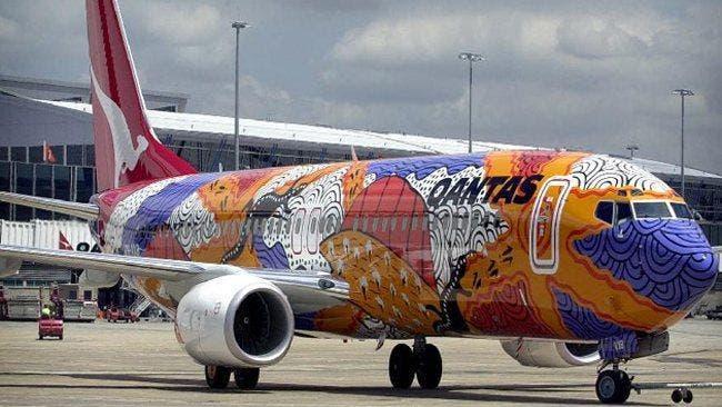 Qantas avion aborigen