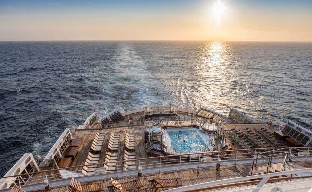 Queen Mary 2 Popa. Foto Cunard.