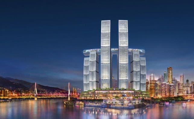 Raffles City Chongqing. Foto Safdie Architects.