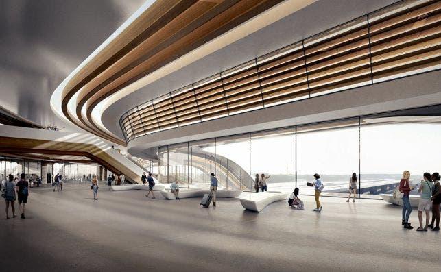 Rail Baltica Ülemiste terminal. Imagen: Zoa Studio.