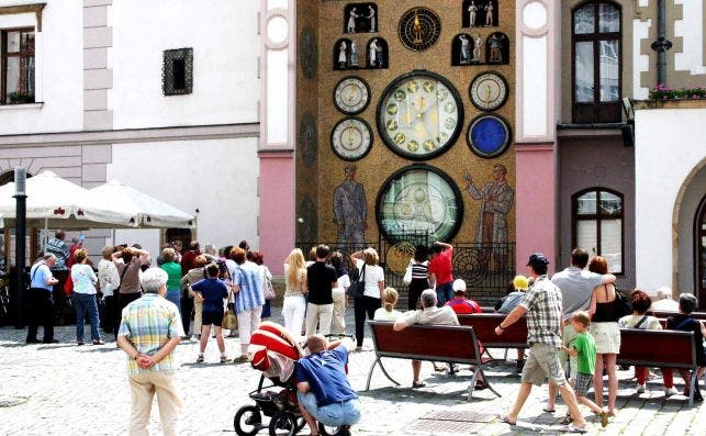 Reloj astronoÌmico de Olomuc. Foto: Manena Munar.