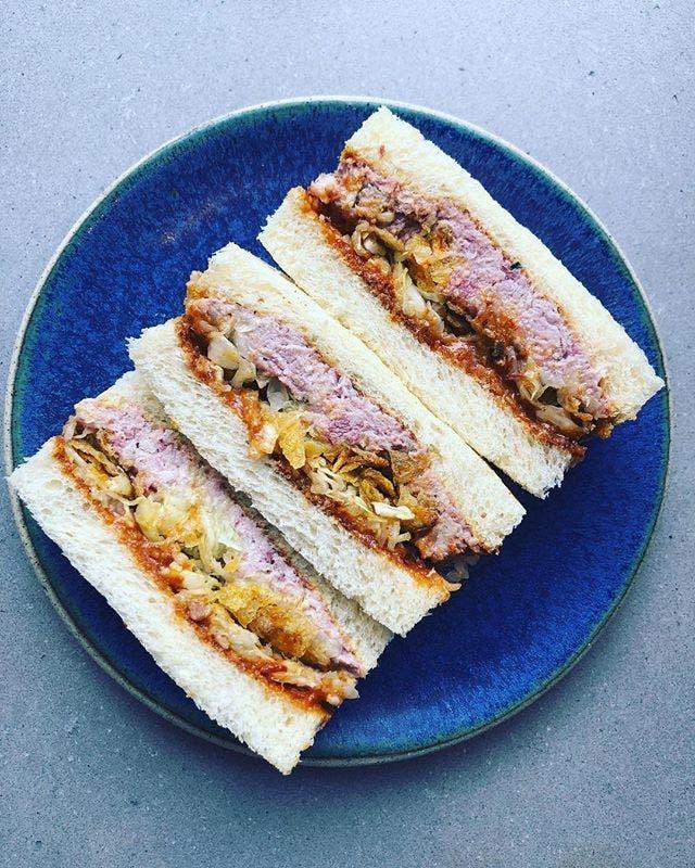 Sandwich elaborado con shokupan en Konbi (Los AÌngeles). Foto Konbi