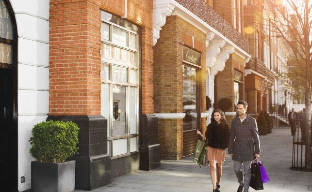 Sloane Street, Londres. Foto VisitBritain.