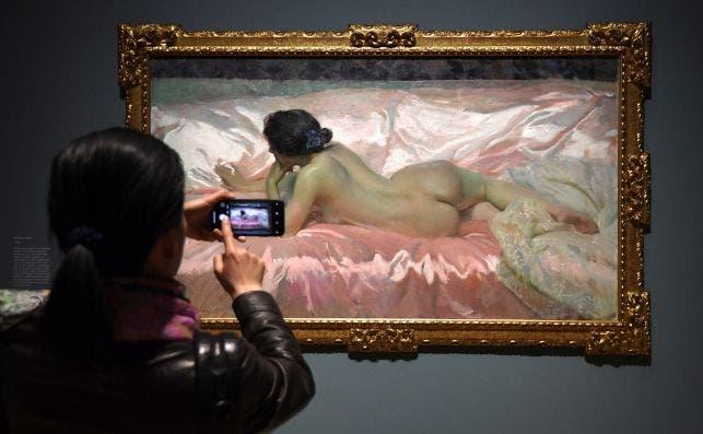 Sorolla en la National Gallery. Foto Facundo Arrizabalaga EFE.