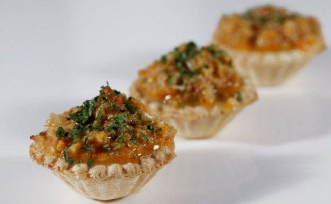 Tartaletas de txangurro del bar Ganbara.