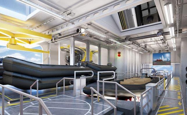 Vista del embarcadero interno. Foto: Viking Ocean Cruises.