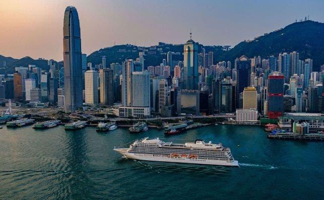 Viking Sun en Hong Kong. Foto Viking Cruises.