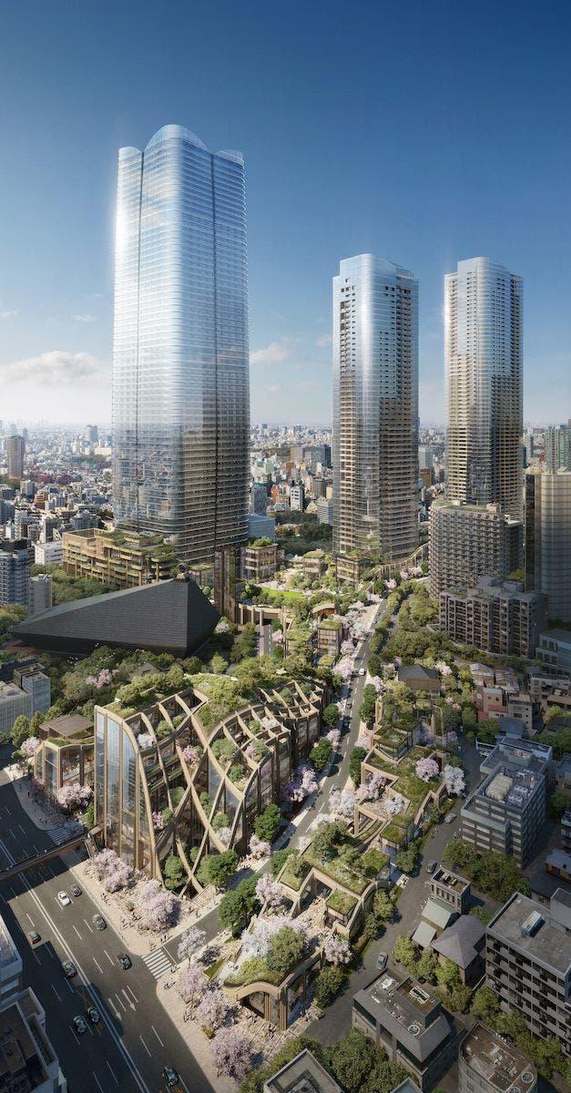 Vista panoraÌmica Mori Building. Foto: Heatherwick Studio.