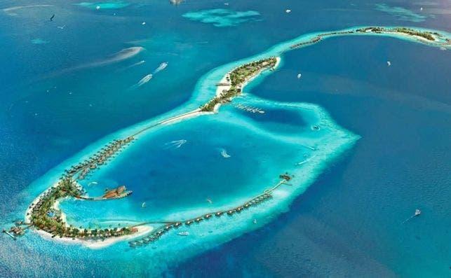 Waldorf Astoria Maldivas aérea.