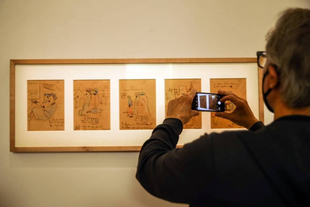 Picasso también se animó a dibujar viñetas. Foto: Mohammed Badra-EFE