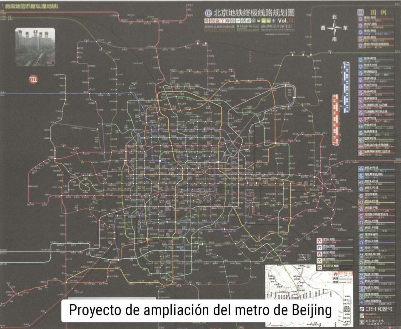 mapa metro china