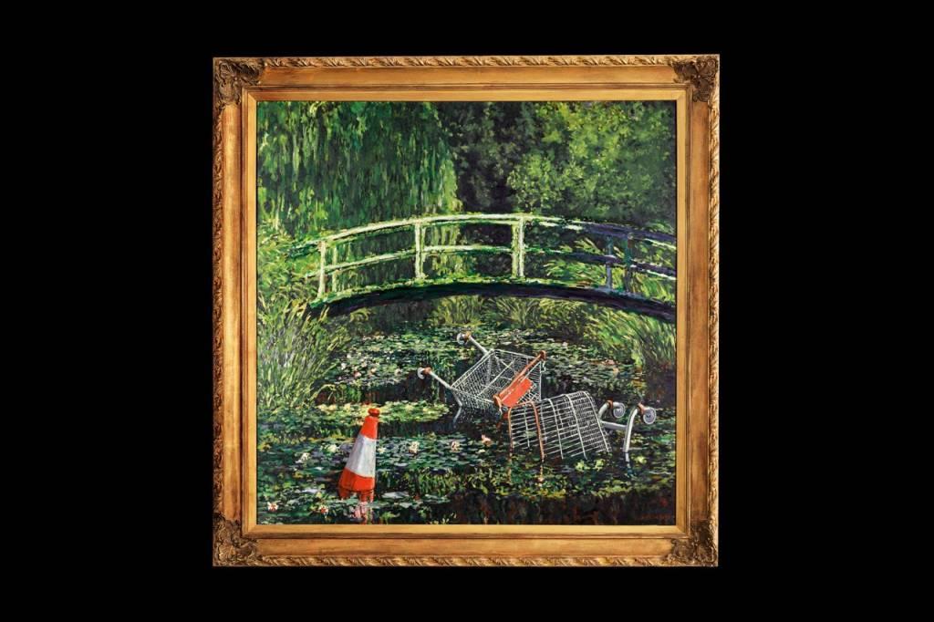 Banksy reinterpreta a Monet