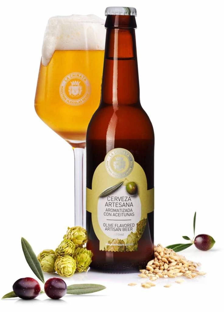 Cerveza Artesana Aromatizada con Aceitunas La Chinata