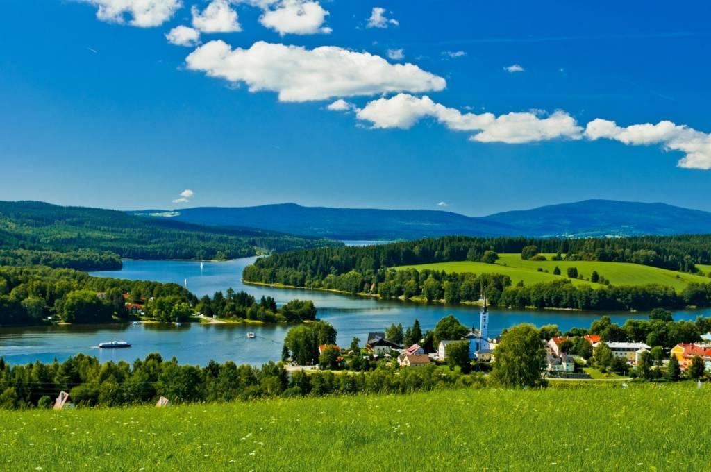 El Moldava en la región cercana a Lipno. Foto: Turismo de Lipno