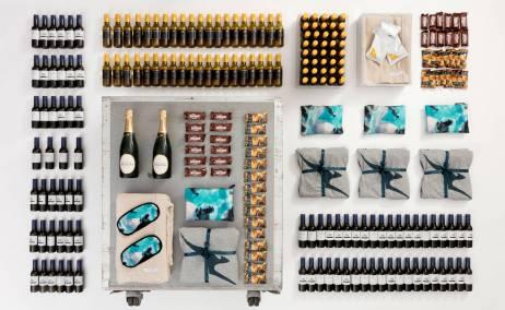 Kit de bebidas y amenities de Qantas. Foto: Qantas