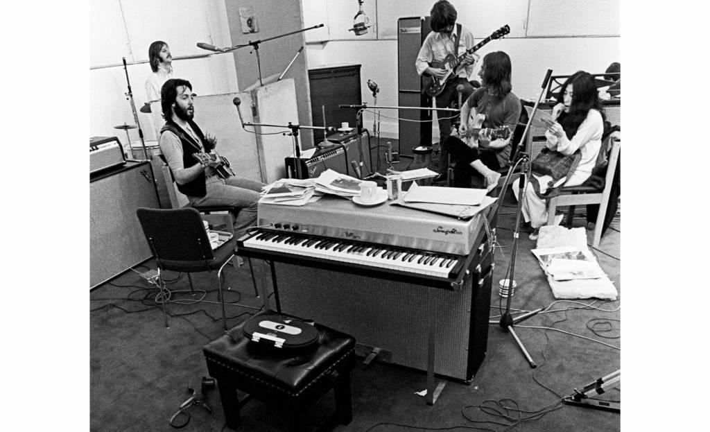 The Beatles en las grabaciones. Foto: Ethan A. Russell-Apple Corps Ltd