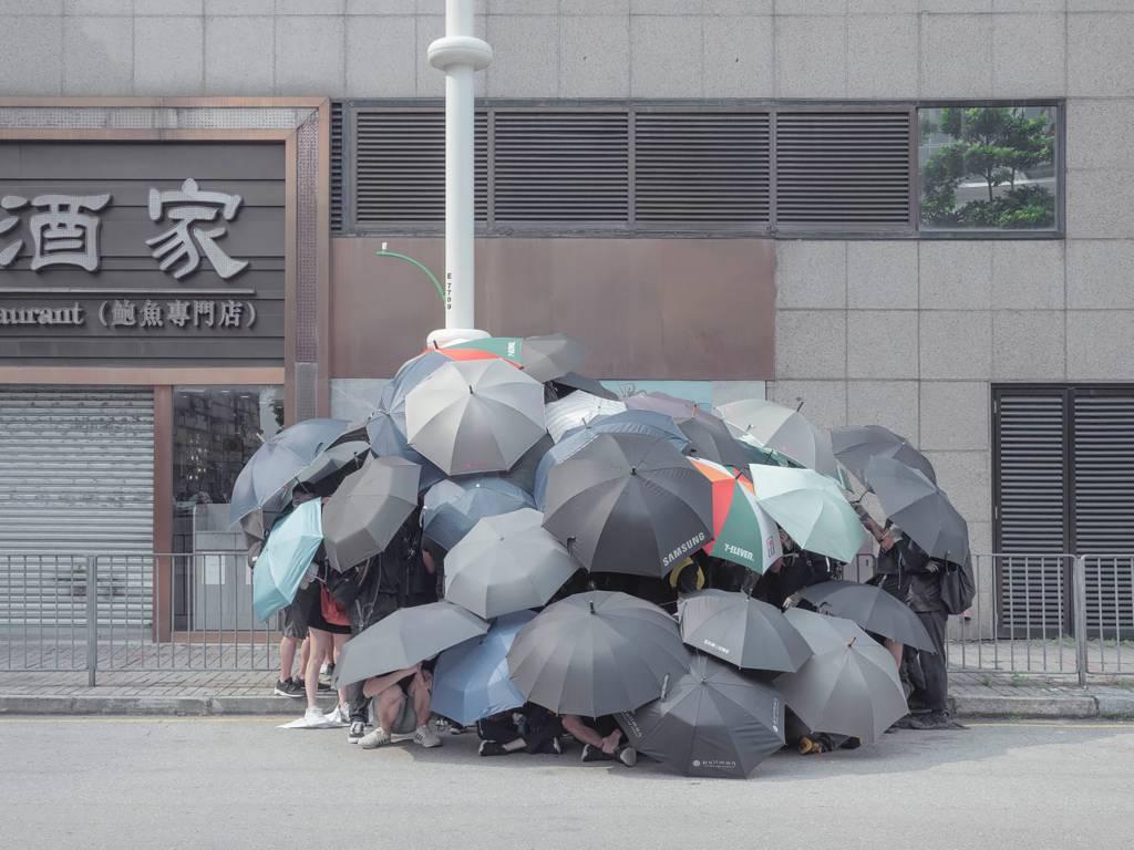 Thaddé Comar y las protestas en Hong Kong. Foto: Getxophoto