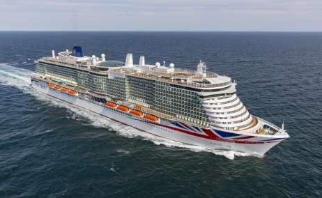 Iona ya está listo para zarpar. Foto: P&O Cruises.