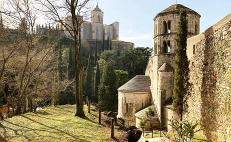 Girona desde los Jardines de John Lennon