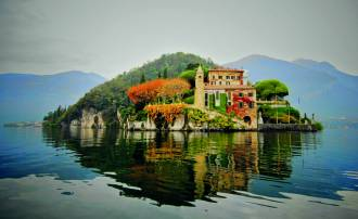 La belleza otoñal del Lago di Como