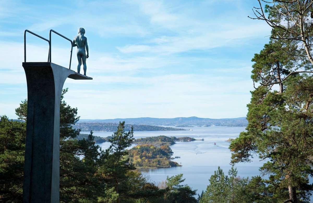 Las vistas de Oslo con arte. Foto Ekebergparken