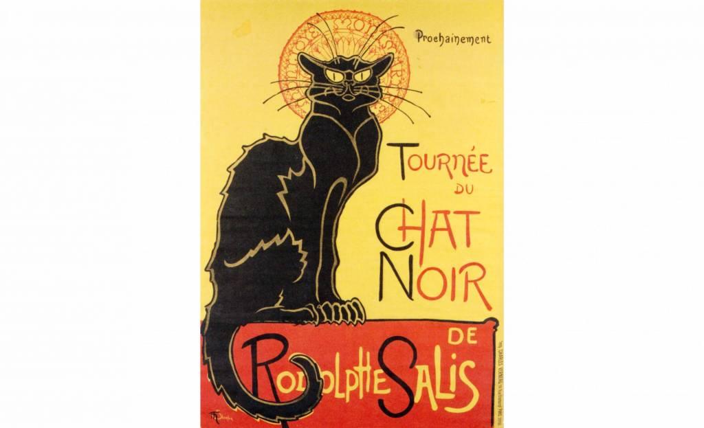 La elegancia del cartel de Le Chat Noir, de Adolphe Salis. Foto: Alamy-Editorial Pavilion