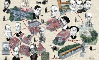 Mapa Km 0 literario Madrid