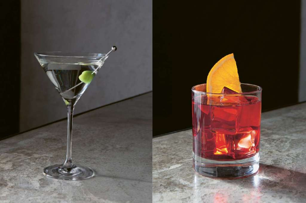 Martini Dry y Negroni
