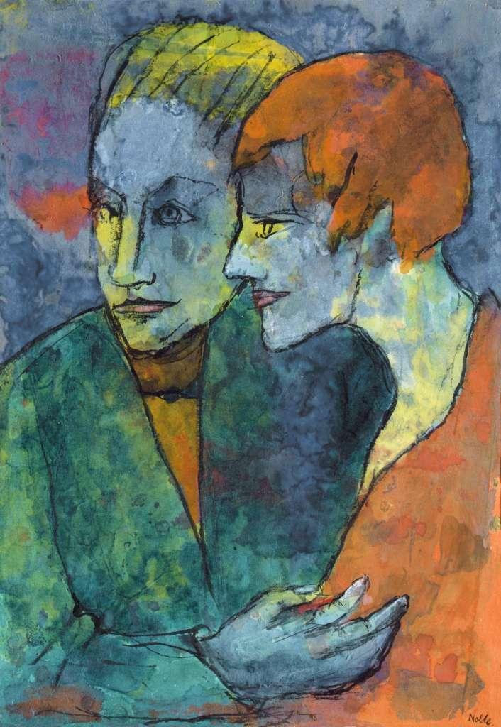 Joven pareja, 1931-1935. Emil Nolde. Foto: Museo Nacional Thyssen Bornemisza.