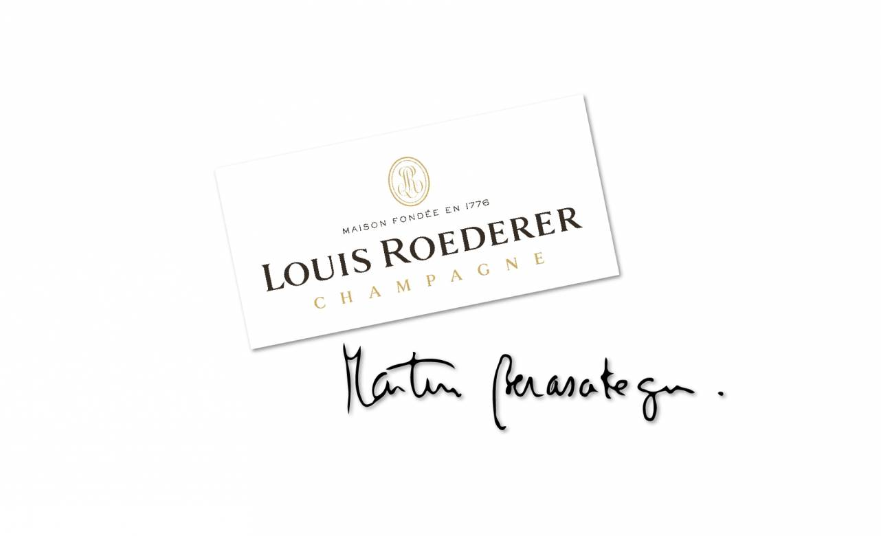 Firma de Martin Berasategui y Stéphane Richer de Louis Roederer Foto: Berasategui