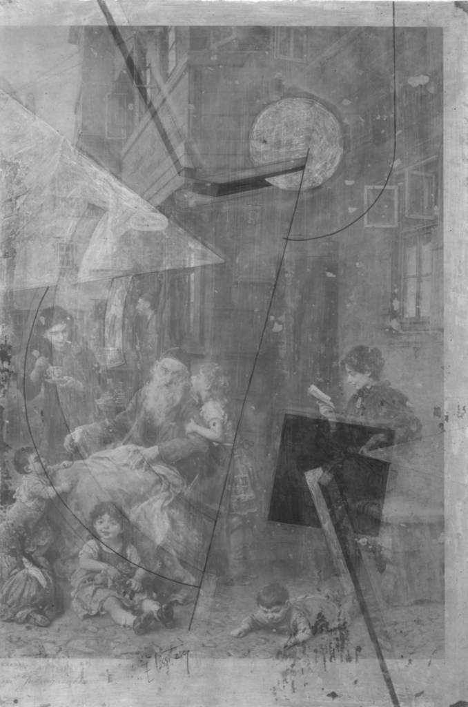 Radiografia de Proun. Foto Museo Ludwig