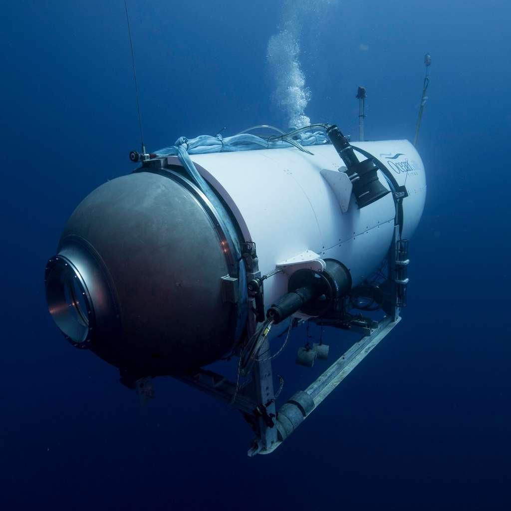 Vista frontal del submarino Titan. Foto: OceanGate Expeditions.