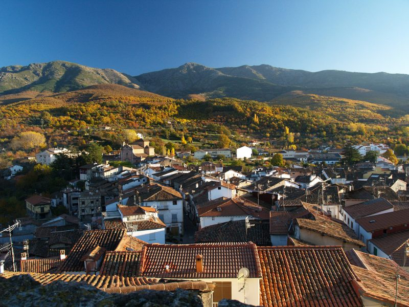 Vista aérea de Hervás Foto Valle del Ambroz
