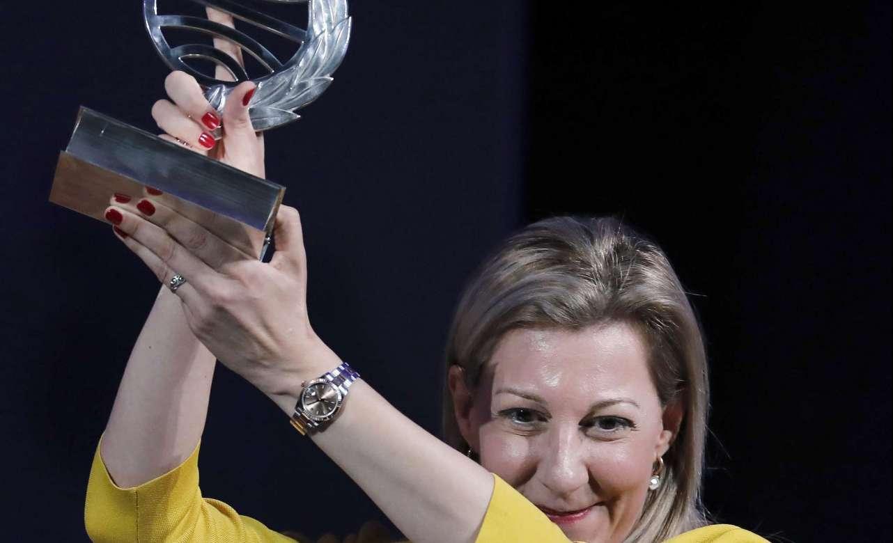 Eva García Sáenz de Urturi, Premio Planeta 2020. Foto Andreu Dalmau   EFE.