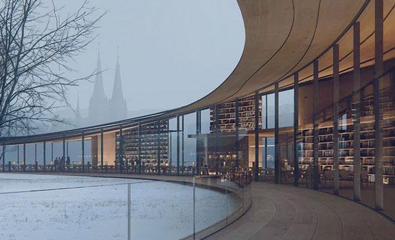 Biblioteca Ibsen. Foto Kengo Kuma & Associates01
